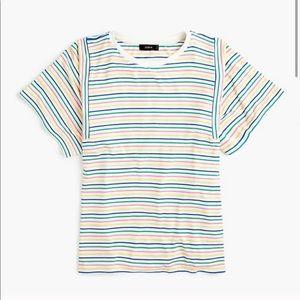 J Crew Mixed Strip Tee Shirt